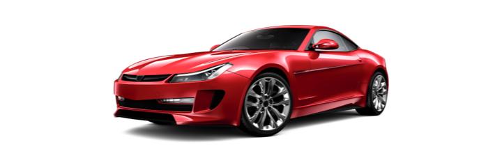 Red Shiny Sports Car